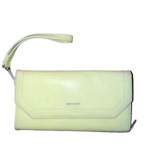 Matt & Nat yellow wristlet wallet / clutch
